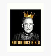 Die berüchtigte Ruth Bader Ginsburg (RBG) Kunstdruck