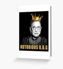 The Notorious Ruth Bader Ginsburg (RBG) Greeting Card