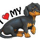 Dachshund Love by aunumwolf42