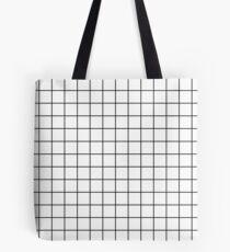 weißes Raster minimalistisches Design Tasche