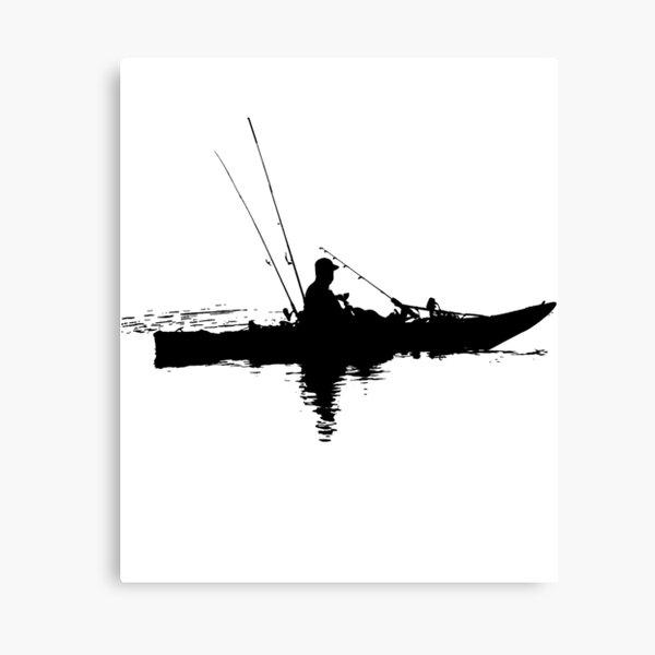 Kayak Fishing Canvas Print