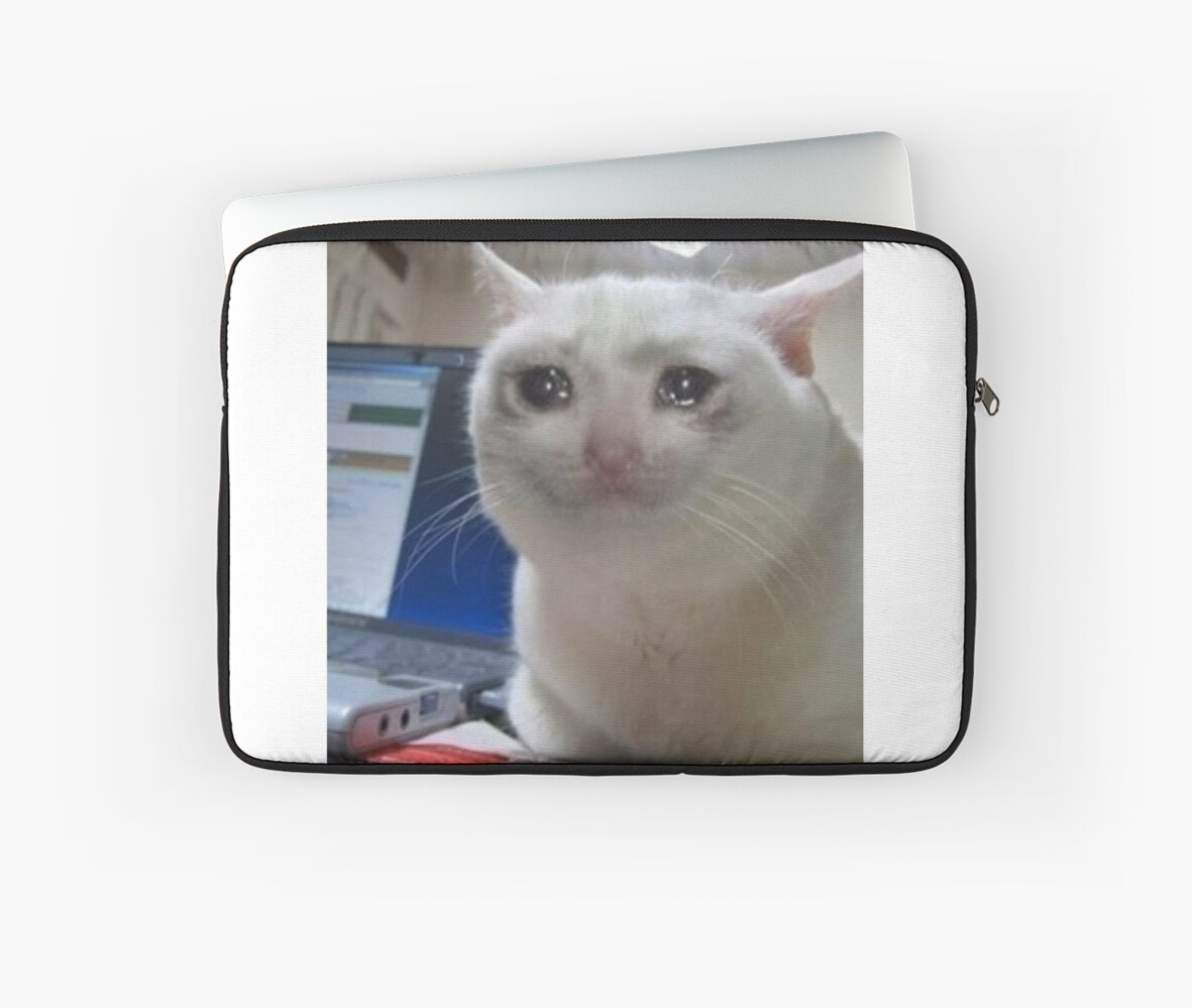 Get Here Cat With Phone Crying