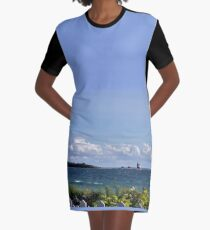 View from Mackinac Island Graphic T-Shirt Dress