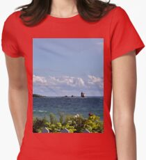 View from Mackinac Island Women's Fitted T-Shirt