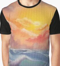 Beach Waves Graphic T-Shirt