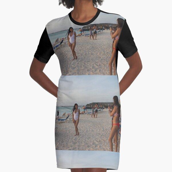 Beach Graphic T-Shirt Dress