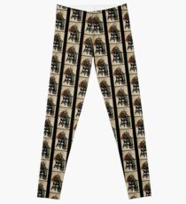 The Death Fiddler And His Sparrow Companion Leggings