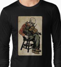 The Death Fiddler And His Sparrow Companion Long Sleeve T-Shirt