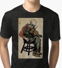 The Death Fiddler And His Sparrow Companion Tri-blend T-Shirt