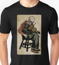 The Death Fiddler And His Sparrow Companion Slim Fit T-Shirt