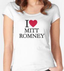 I love Mitt Romney Women's Fitted Scoop T-Shirt
