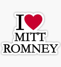 I love Mitt Romney Sticker