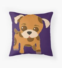 Spotted Puppy Throw Pillow