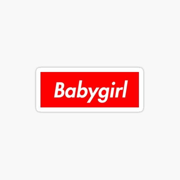 babygirl supreme Sticker