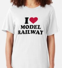 I love model railway Slim Fit T-Shirt