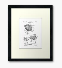 Iconic Mid Century Modern Flexible Contour Chair by Harry Bertoia Framed Print