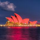 Sydney Opera House lit for the Lunar New Year by Erik Schlogl