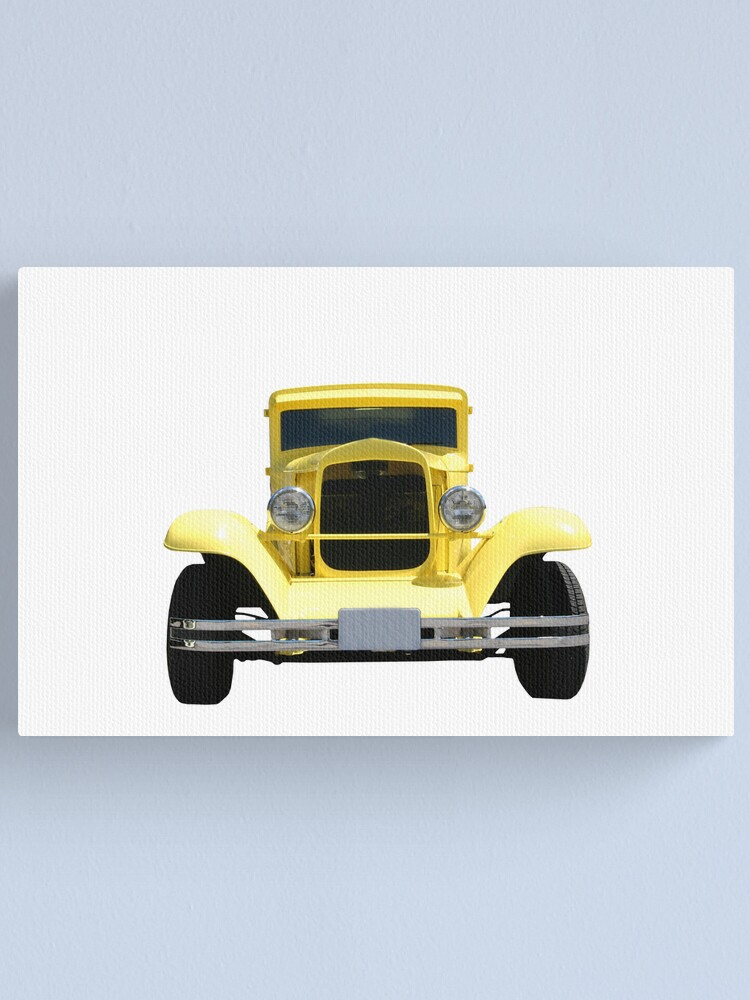 Alternate view of Yellow Hot Rod Canvas Print
