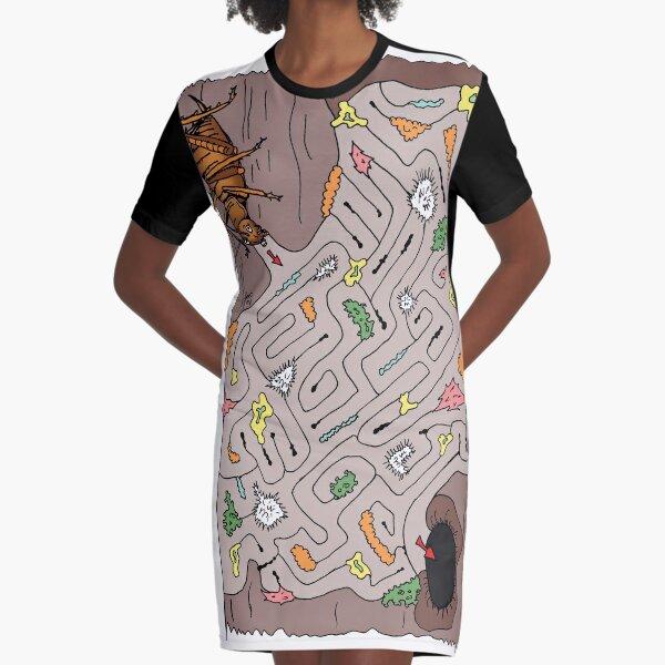 Wētāpunga in a lichen maze Graphic T-Shirt Dress
