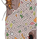 Wētāpunga in a lichen maze by Josie Galbraith