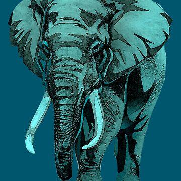 Elephant Watercolor by tduffy