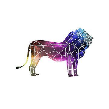 Low Poly Lion • Abstract Art • Scandinavian Print • Wall Art • Minimalist Nursery • Polygon Lion • Abstract Art • Abstract Sky • Mufasa • Lion King • Sky Art Animals • Animal Prints by DollarPrints