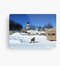 Winnipeg Assiniboine River near Legislature #1 Metal Print