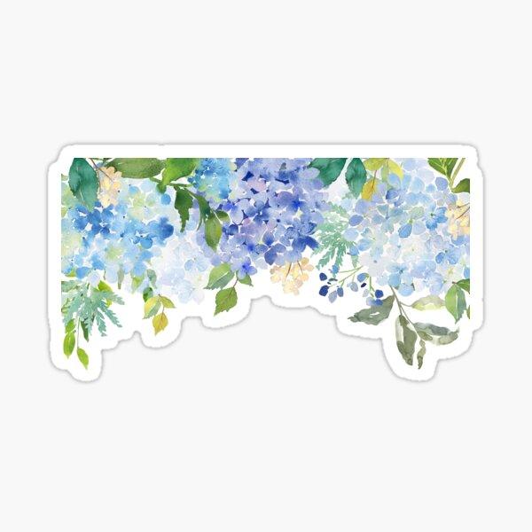 Blue Lilac Watercolor Hydrangea Sticker