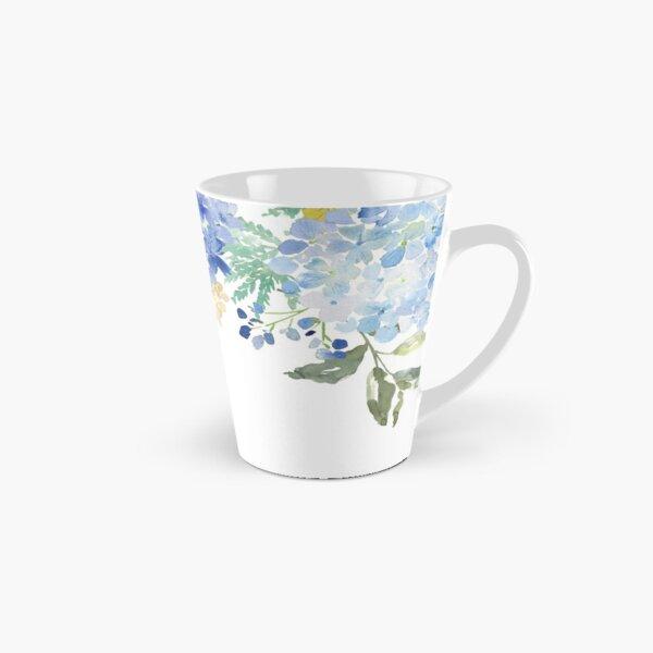 Blue Lilac Watercolor Hydrangea Tall Mug
