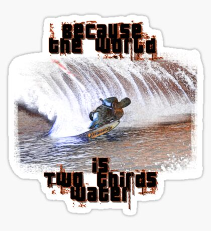 Water ski T Sticker