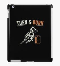Turn & Burn Horse Barrel Racing Rodeo  iPad Case/Skin