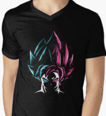 Super Saiyan Blue and Super Saiyan Rose Men's V-Neck T-Shirt