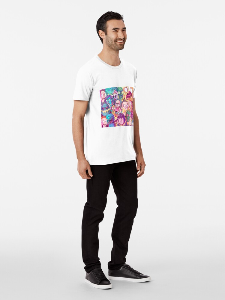 Alternate view of Insane Rick and Morty Doodle Premium T-Shirt