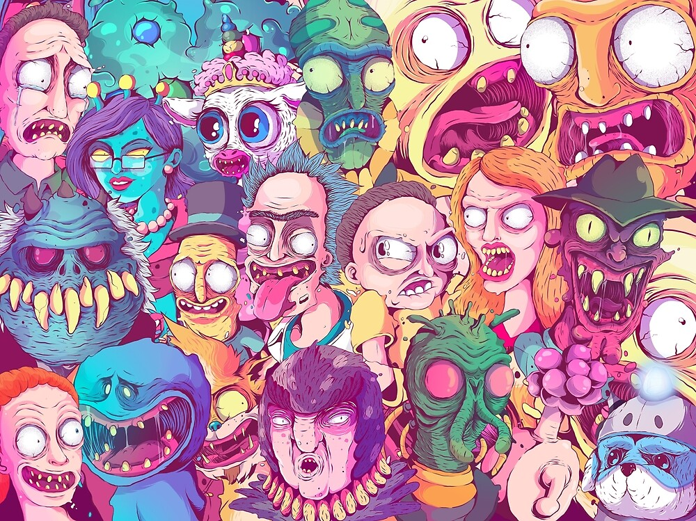 Insane Rick and Morty Doodle by Fernando Nunes - Illustrator