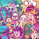 Insane Rick and Morty Doodle by fernandonunes