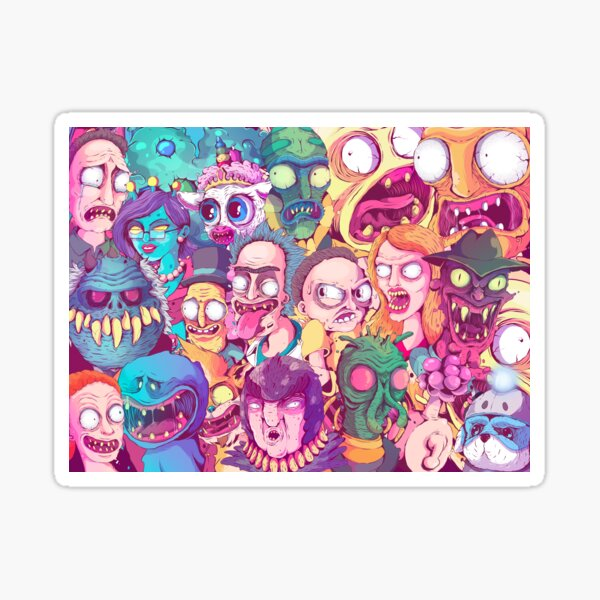 Rick and Morty - Interdimentional Doodle Sticker