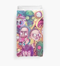 Rick and Morty Doodle Duvet Cover