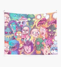 Rick and Morty Doodle Wall Tapestry