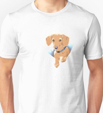 Pocket Puppy Blue aqua T-Shirt