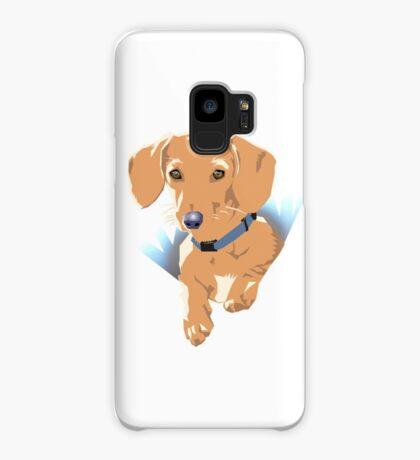Pocket Puppy Blue aqua Case/Skin for Samsung Galaxy
