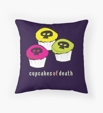 Cupcakes of Death Throw Pillow