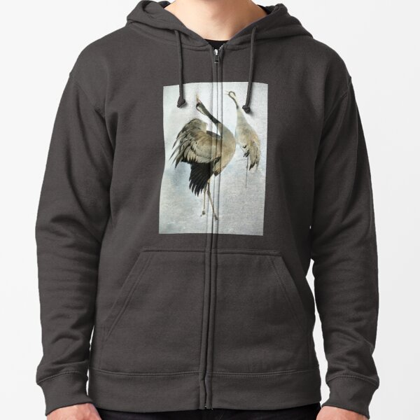 The Dance of the Cranes - 2 of 2 Zipped Hoodie