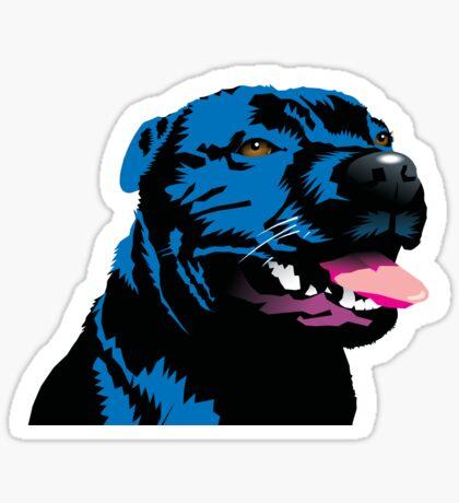 Blue Staff Staffy Sticker