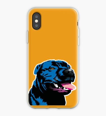 Blue Staff Staffy iPhone Case