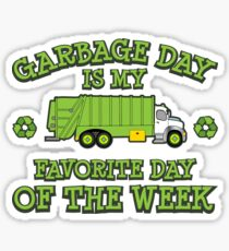 Garbage Day Truck Kids and Adult Trash Sticker