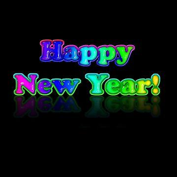 A Colourful Happy New Year by patjila by patjila