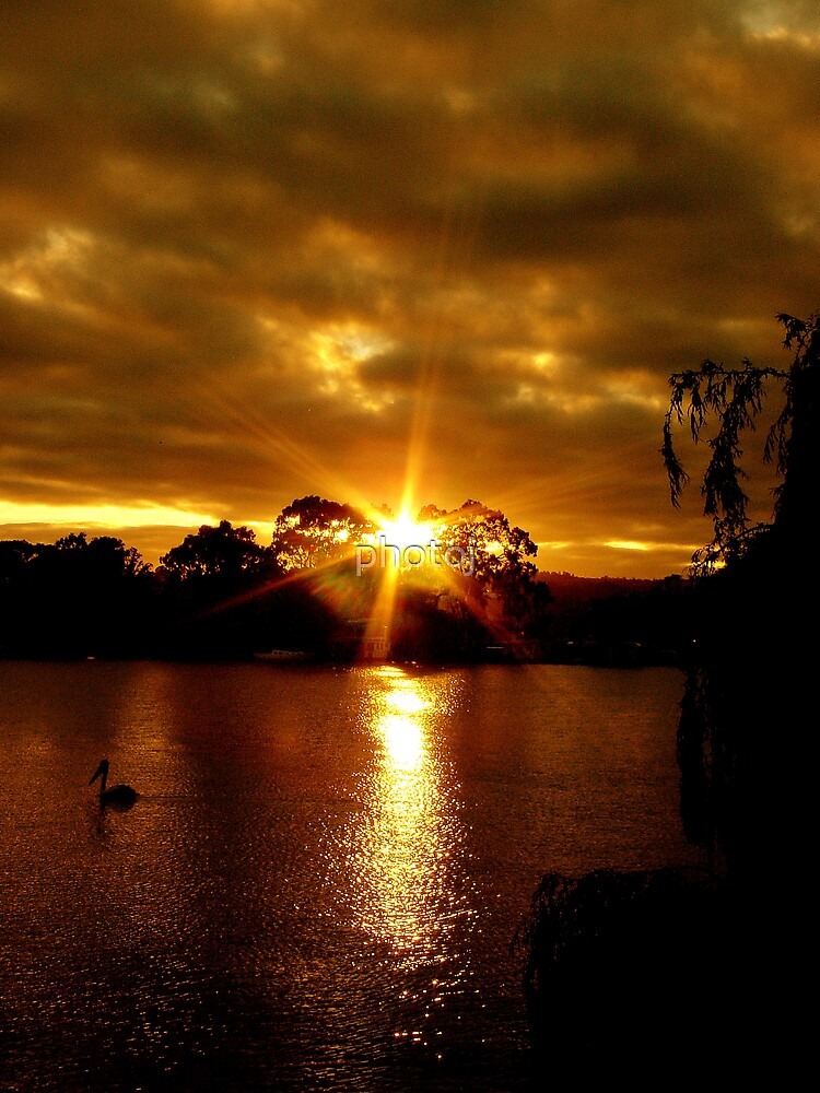 photoj S.A. Sunset On The Murray River by photoj