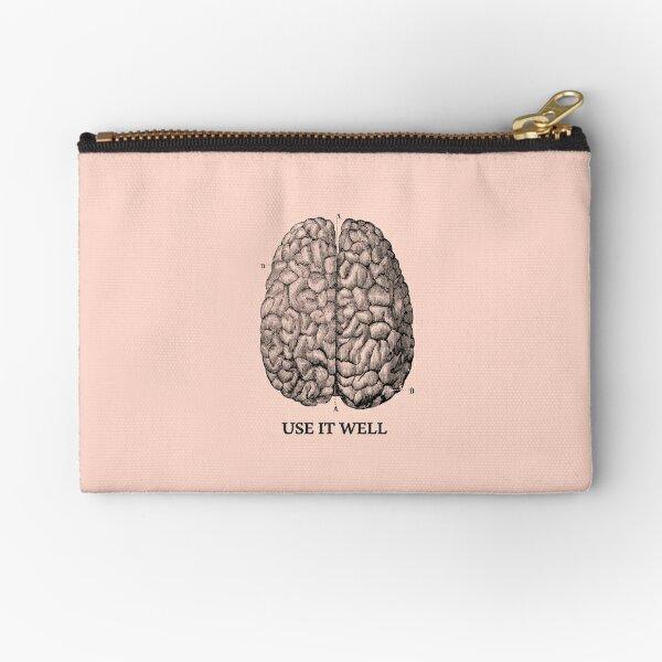 Use it well - Brain  Zipper Pouch