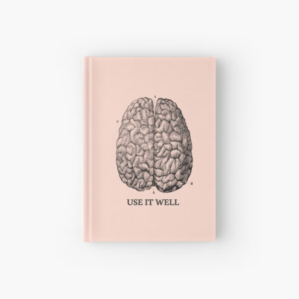 Use it well - Brain  Hardcover Journal