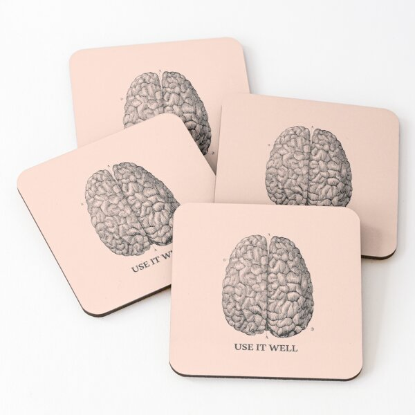 Use it well - Brain  Coasters (Set of 4)